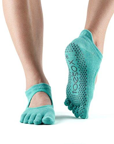 yoga Calzini in sul aperti calzini donna dita cotone con ToeSox 1paio da per Aqua davanti biologico Bella fCqwF