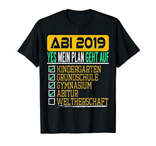 ABI 2019 Lustiges Abschluss T-Shirt Bestanden Schule Vorbei -