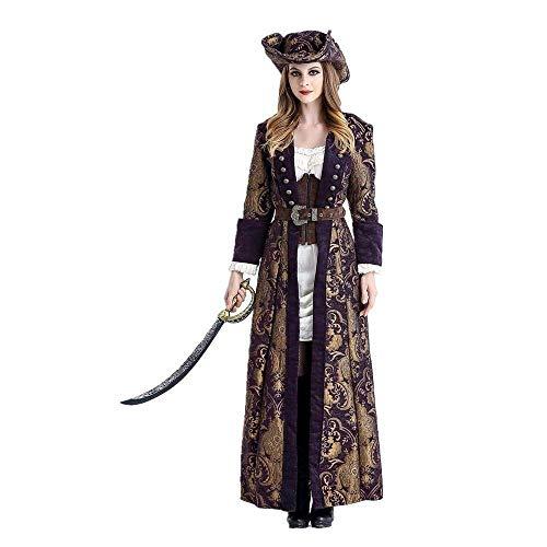 Fashion-Cos1 Frauen-Piraten-Kostüm-Frauen-weibliches Halloween-Abendgesellschaft-Kleid-Karnevals-Erwachsener Pirat Cosplay Kostüme (Size : M)