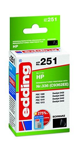 edding 18-251 Druckerpatrone EDD-251, Ersetzt: HP Nummer 336 C9362EE, Einzelpatrone, schwarz