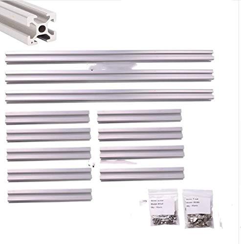 Rahmenabdeckungs-Kit für T-Nut-Aluminium-Extrusionsprofile für Kossel Mini-Delta-3D-Drucker mit Schraube und T-Mutter - Delta-mutter