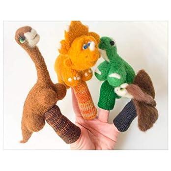 Fingerpuppen Dinosaurier