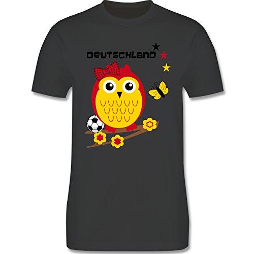 EM 2016 - Frankreich - Deutschland Eule - Herren Premium T-Shirt Dunkelgrau