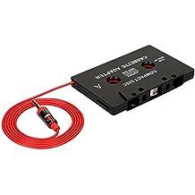 OSAN Cassette Tape Adaptador de MP4 para Coche para Coche para iPod, iPad, iPhone, MP3, Dispositivos Móviles