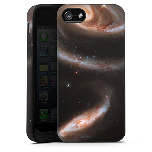 Apple iPhone X Silikon Hülle Case Schutzhülle Galaxy Space Galaxie Tough Case matt