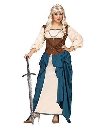 Horror-Shop Mittelalterliches Wikinger Königin Kostümkleid Plus Size XXL