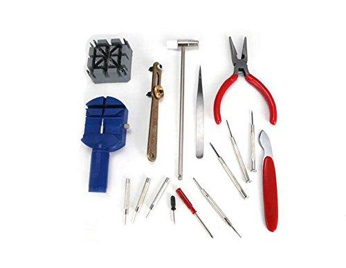 Fuse-link-kit (1 Satz (16 STÜCKE) Uhr Reparatur-Tools-Professional Home Uhr Band Link Adjuster Uhrenarmband Strap Pins Link Remover für Uhrenarmband Links Fix Kit)