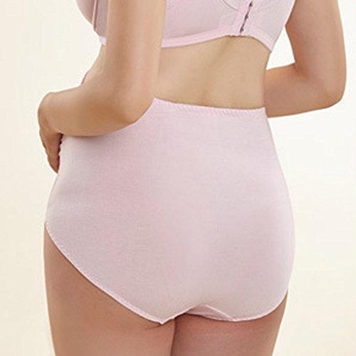 Aivtalk Damen elegante unbeschwerte Unterhose über die Beule für Schwangere Rosa