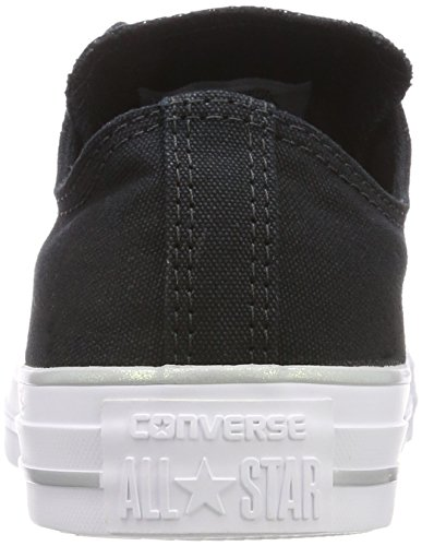 Converse Ctas Ox Black/Silver/White, Sneaker Unisex – Adulto Schwarz (Black/Silver/White)