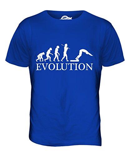 CandyMix Tuffi Tuffatore Evoluzione Umana T-Shirt da Uomo Maglietta Blu Royal