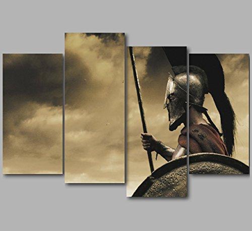 RWH Fotografie XL 127 x 86 cm 300 Leonidas Sparta Spartan King Warrior Movie Shot 4-teilig (300 Der Film)