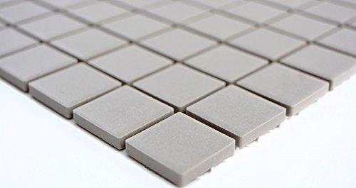 Mosaico in ceramica grigio chiaro unglasiert per piastrelle per