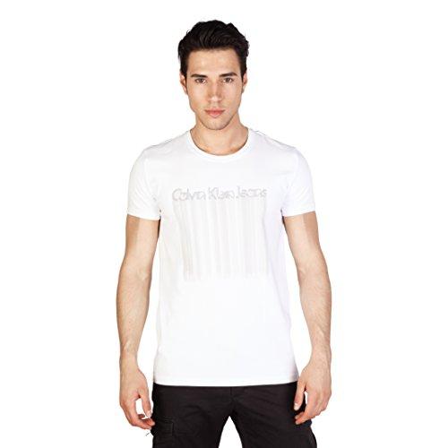 Calvin Klein Herren T-Shirt, kurzärmlig Schwarz/Grau