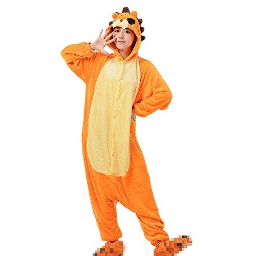 Jysport, unisex Pyjama aus Fleece mit Einhorn-Motiv und Kapuze für Kinder, Damen und Herren xl löwe