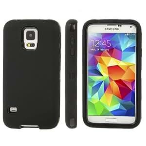 Plastic + Silicone Combination Case for Samsung Galaxy S5 G900 in Black