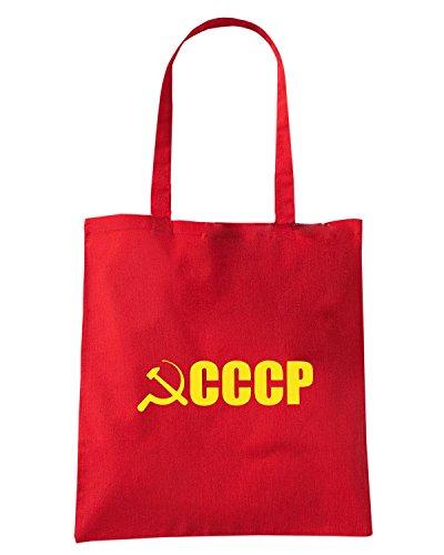 T-Shirtshock - Borsa Shopping TCO0007 falce e martello comunismo cccp Rosso