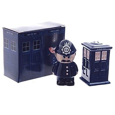 Ceramic Policeman and Police Box Salt and Pepper Set