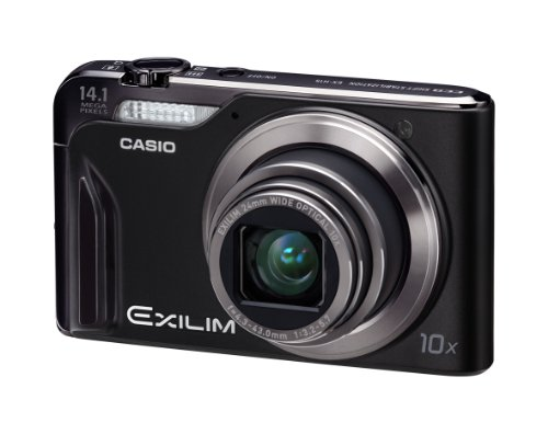 Casio Exilim EX-H15 Digitalkamera (14 Megapixel, 10-fach opt. Zoom, 7,6 cm Display, Akku für bis zu 1.000 Fotos, bildstabilisiert) schwarz (Kamera Digital Casio)