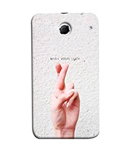 FUSON Designer Back Case Cover for Lenovo K880 (Always Wish You Best Success Happy Palm )