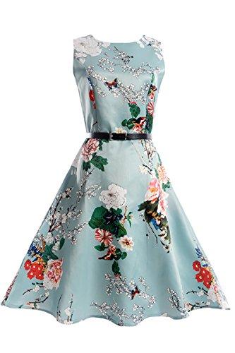Bai You Mei Mädchen Kleid Damen Süß Tochter Mama 50s Retro Vintage Hepburn Kleid Partykleider Cocktailkleider 42-44