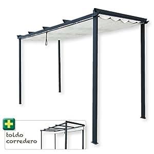 papillon 8043630 pergola 3 x 4 m azoren sonnensegel zum zusammenschieben baumarkt. Black Bedroom Furniture Sets. Home Design Ideas