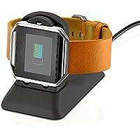 EloBeth Fitbit Blaze Accessoires,Fitbit Blaze Chargeur Adapteur pour Smartwatch Fitbit Blaze Smart Fitness Watch, avec Câble de Micro USB, NOIR
