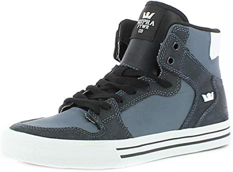 714f5bc2849c Scarpe Uomo Donna Grigio Cenere Bianco Supra Vaider scarpe da ginnastica  Men Woman scarpe S28271-