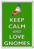 Keep Calm and Love Gnomes - Jumbo Fridge Magnet - Brand New Gift/Present/Souvenir