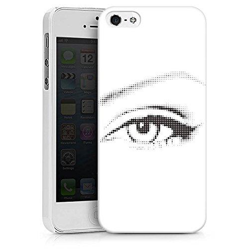 Apple iPhone X Silikon Hülle Case Schutzhülle Auge Grafik Punkte Hard Case weiß
