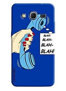 Omnam Blue Phone Saying Blah Blah Blah Designer Back Cover Case For Samsung Galaxy Core Prime G360