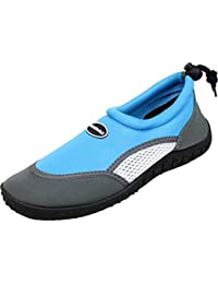 BOCKSTIEGEL® FÖHR Aqua Zapatos (28-35 Calzado de Agua para Niños Suela de Goma Neopreno Playa Kayak Snorkel Vacaciones), Color:hellblau;Tamaño:34
