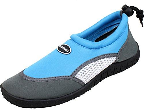 BOCKSTIEGEL® JUIST Scarpe di Aqua (22-27 Bambini Neoprene Nuoto Spiaggia) Blu chiaro
