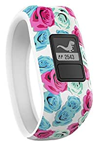 Garmin 010-01634-22 Vivofit Jr. Motivator and Activity Tracker, Multicolor (Real Flower)