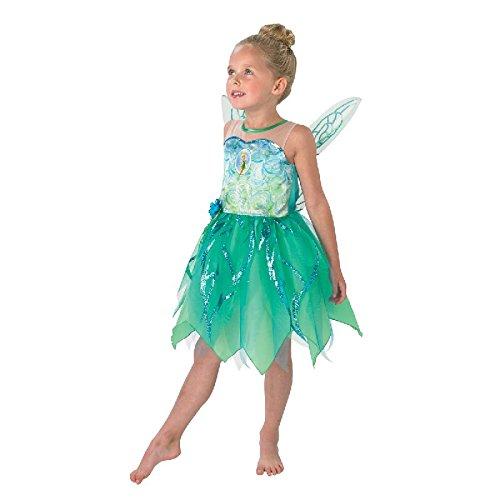 Disney Kinder Kostüm Fee Tinkerbell Kleid mit Flügeln Gr.M