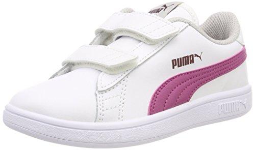 Puma Smash V2 L V PS, Sneakers Basses Mixte Enfant, White, 31 EU