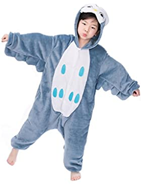 Pijama unicornio, Kinderkinder Niedliche Cartoon-Tier Flanellpyjama Cosplay Sleepwear-Parteikostüm