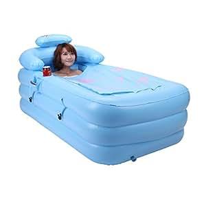 Adulte multiplication par épaississement bain de bain baignoire gonflable plastique à double baignoire