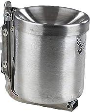 Edelstahl Kipp Wandaschenbecher 0,6 L (90 x100mm). Sicherheitsaschenbecher für Gastronomie und Zuhause Windaschenbecher und