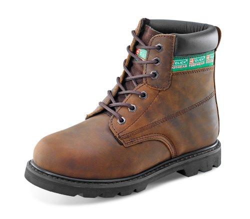 GoodWear SBP Kedernaht 15,2cm Sicherheit Stiefel mit Zwischensohle-b-click Schuhe, Braun - braun - Größe: 41.5