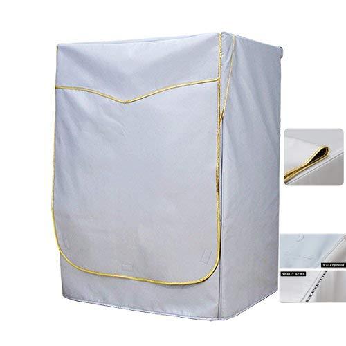 Mr.You]Lavatrice Copertura Impermeabile Protezione Solare Antipolvere per Lavatrice e asciugatrice Argento Dorato(5 Anni di Vita utile, XL)