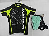 Mycycology Cycling Full Front Zip Short Sleeves Cycling Jersey and Gel Padded Bib