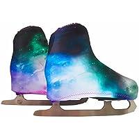 Copripattini per pattinaggio artistico a rotelle o su ghiaccio, fantasia galaxy DISPONIBILE IN TAGLIA M dal 32 al 35