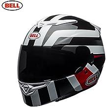 Bell Helmets RS2, Empire - Casco, color blanco y rojo