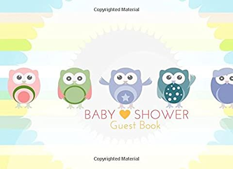 Baby Shower Guest Book: Owl Message Book, Memory Journal, Guestbook,
