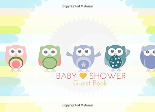 """Baby Shower Guest Book: Owl Message Book, Memory  Journal, Guestbook, Journal