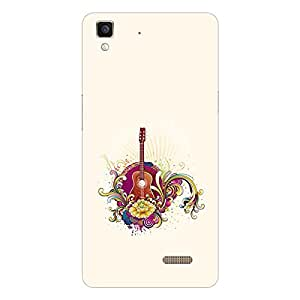 Garmor Designer Silicon Back Cover For Reliance Lyf Flame 8