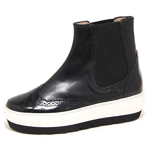 8957N beatles donna SANTA CLARA nero platform shoes woman (36 Di Santa)