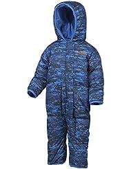 Columbia Snuggly Bunny Bunting - Mono con aislamiento para niño, color azul, talla 3-6 meses