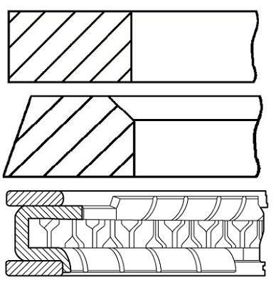 08-431400-00 Payen Piston Rings - Cylindre Unique OE Qualité