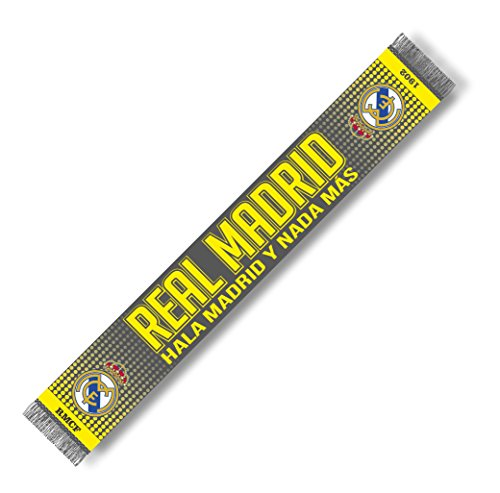 + REAL MADRID BUFANDA FAN GRIS/FLÚOR 150x18cm